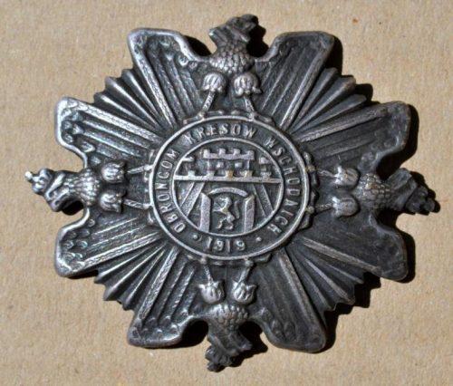 Odznaka wojskowa Obrońcom Kresów Wschodnich, 1919 r.